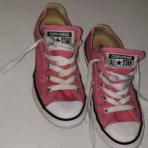 Size 13 PINK Converse Allstar Low Tops